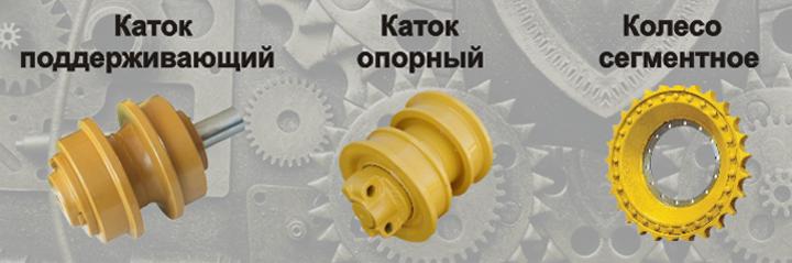 Катки опорный и поддерживающий, колесо сегментное